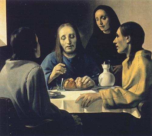 Van Meegeren Vermeer 'Christ and the Disciples at Emmaus.