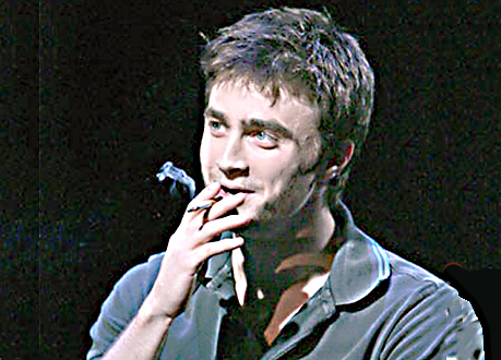 Happy smoker Harry Potter