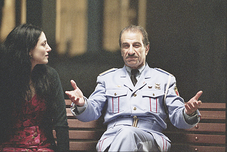 Ronit Elkabetz as Dina and Sasson Gabai as Tewfiq 3jjj