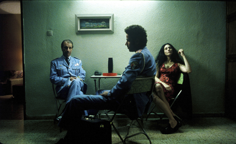 Sasson Gabai as Tewfiq Ronit Elkabetz as Dina and Saleh Bakri as Haled