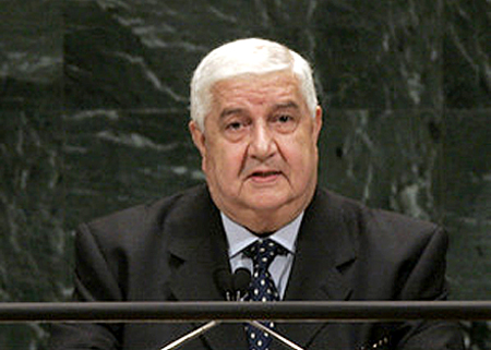 Foreign Syrian Minister Walid al-Moualem