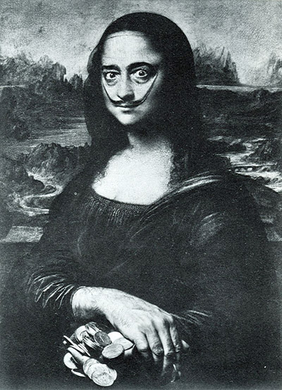 S. Dali as the Mona Lisa