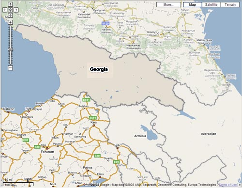 Soviet Georgia Map.Maps And Google And War In Georgia Korzacsol