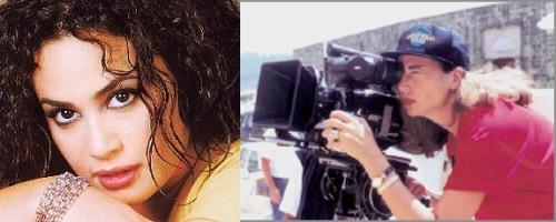 Tunisian actress Hind Sabri and director Inas al-Daghidi
