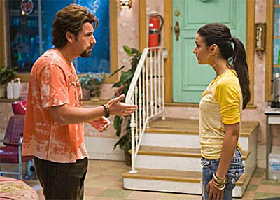 Adam Sandler and Emmanuelle Chriqui
