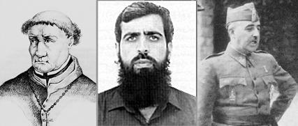 Tomás de Torquemada, Salah Shehadeh and General Franco