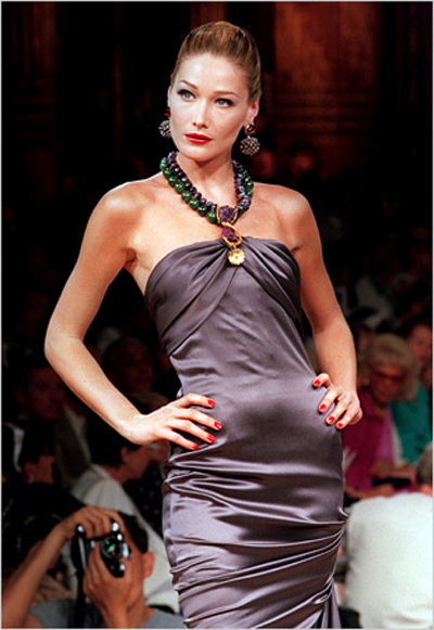 Carla Bruni on the catwalk