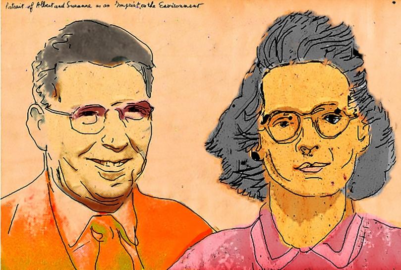Suzanne and Albert Decraen, Dieghem,Belgium,1941